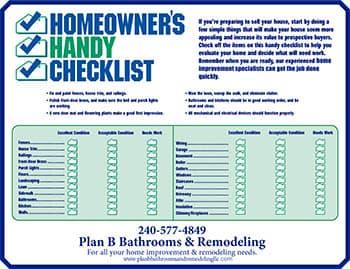 Home repair checklist